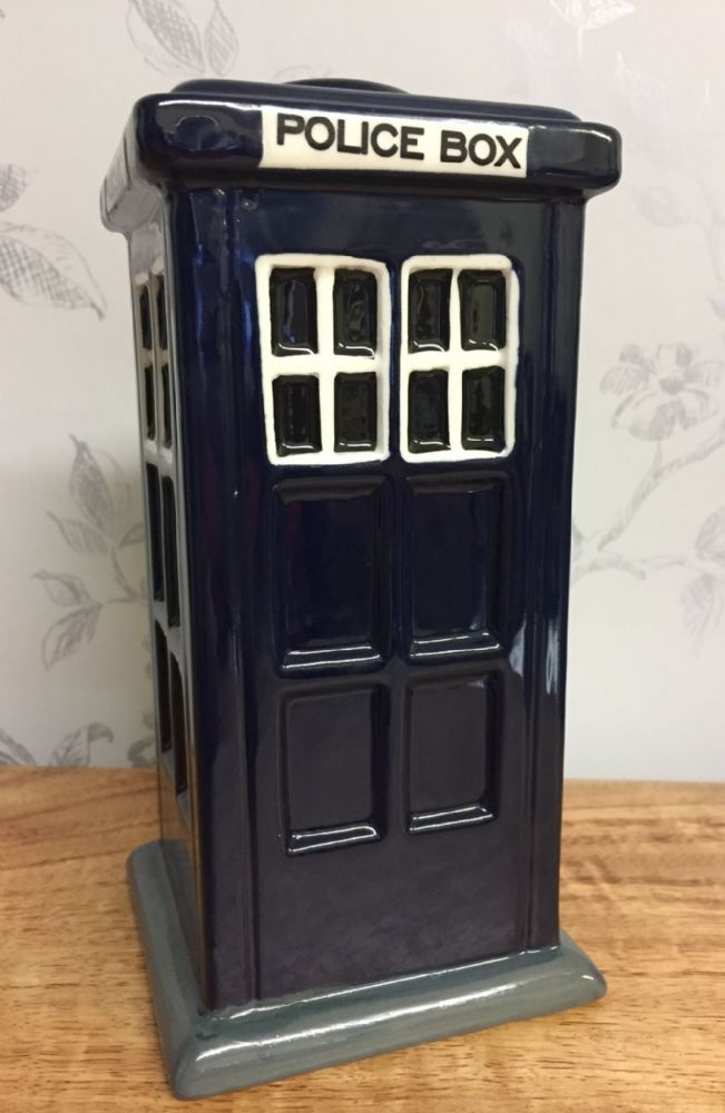 Police Telephone Box Ceramic Dr Who Tardis Money Box